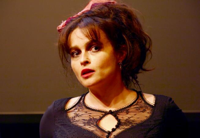 Un primo piano di Helena Bonham Carter a Firenze
