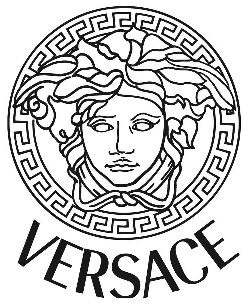 Il logo di Versace con la Medusa