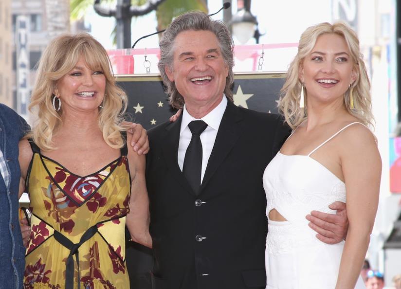 Gli attori Kurt Russell, Goldie Hawn e Kate Hudson