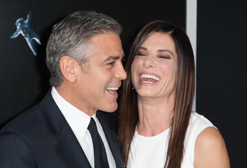 Sandra Bullock e George Clooney alla premiere di Gravity a New York