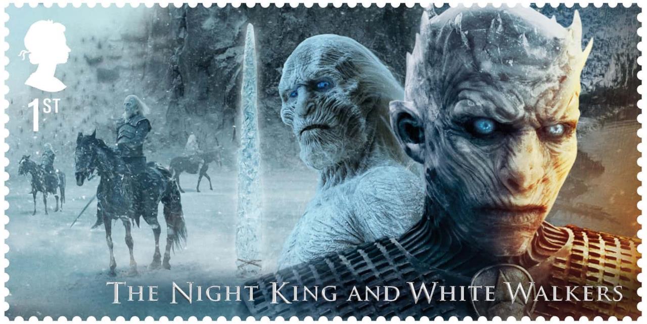 Il Re della Notte e gli Estranei in uno dei francobolli Royal Mail