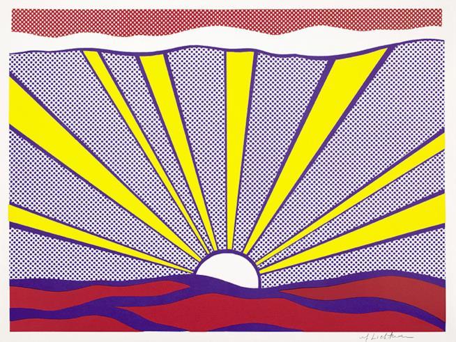 Roy Lichtenstein, Sunrise, 1965 Litografia offset su carta bianca leggera 46.5 x 61.8 cm Collezione privata, Courtesy Sonnabend Gallery, New York © Estate of Roy Lichtenstein