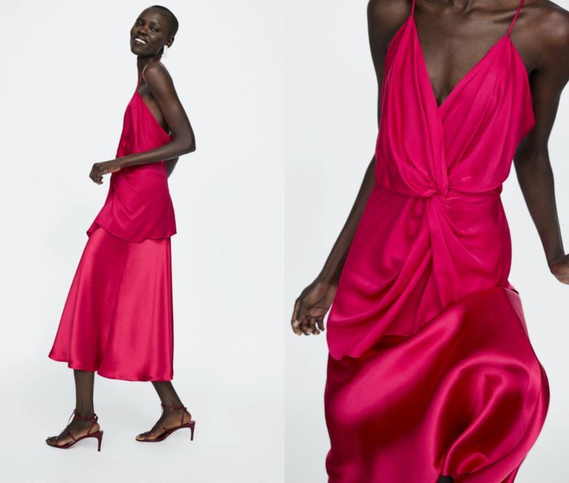 DonnaVestitiFaux Fucsia Zara Rosso FurCappottiScarpeBorse E UzpMqVGjLS