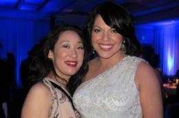 Le attrici Sandra Oh e Sara Ramirez