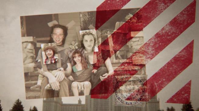 Un frame della sigla della serie TV The Americans