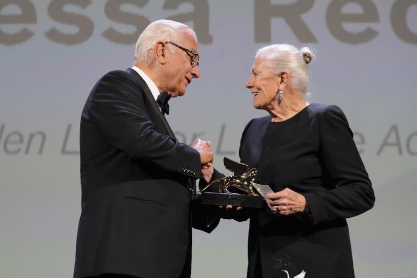 Vanessa Redgrave e Paolo Baratta alla serata di apertura di Venezia 75