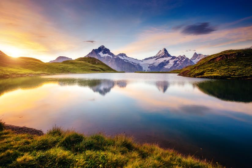 Panorama mozzafiato delle Alpi svizzere