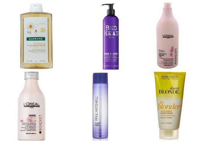 Prodotti specifici per capelli biondi