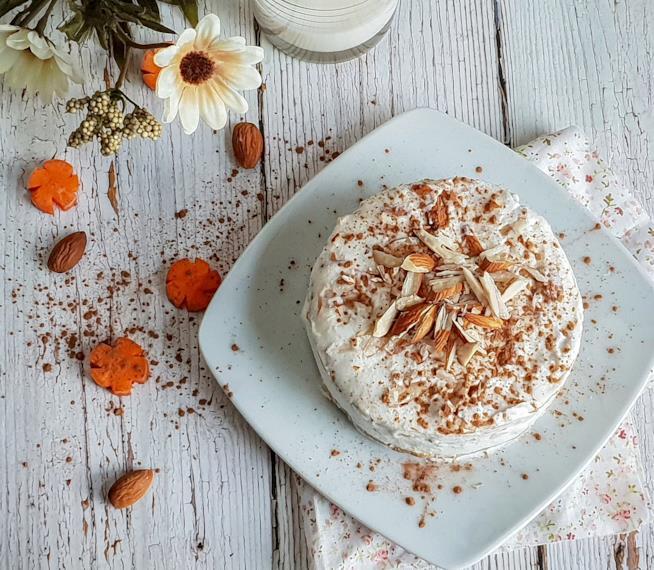 Carrot cake con mandorle