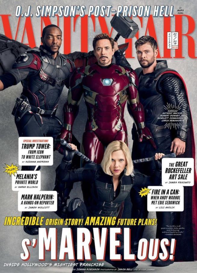 Gli Avengers sulle copertine di Vanity Fair