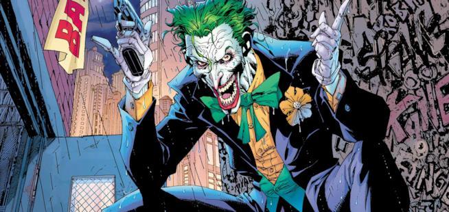 Il disegno della DC Comics di Joker, personaggio di Batman
