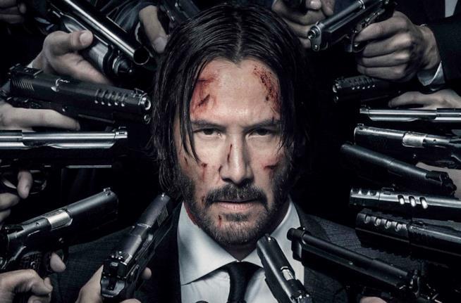 Keanu Reeves nel poster di John Wick
