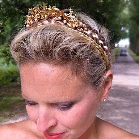 La corona realizzata da Sylvie Facon