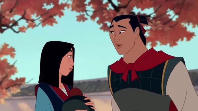 Il Principe Li Shang con Mulan