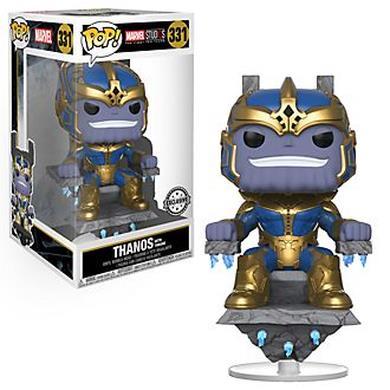 Personaggio in vinile Thanos con trono serie Pop!