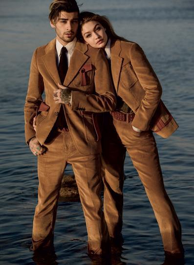 Gigi e Zayn vestiti con lo stesso completo