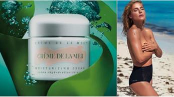 La Crème de la Mer in un collage con Elsa Pataky