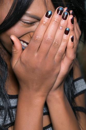 Manicure bicolore