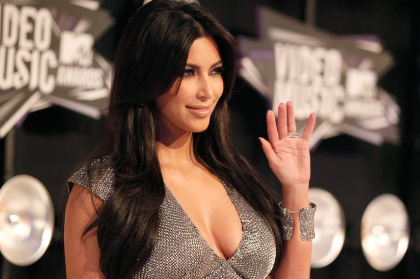 Kim Kardashian ad un evento.