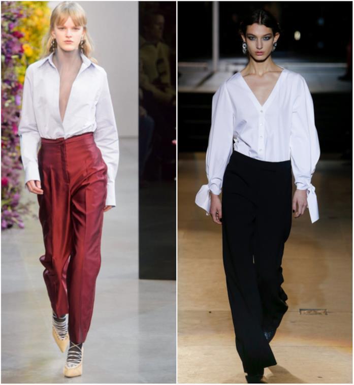 Jason Wu e Carolina Herrera fanno sfilare la camicia bianca alla New York Fashion Week