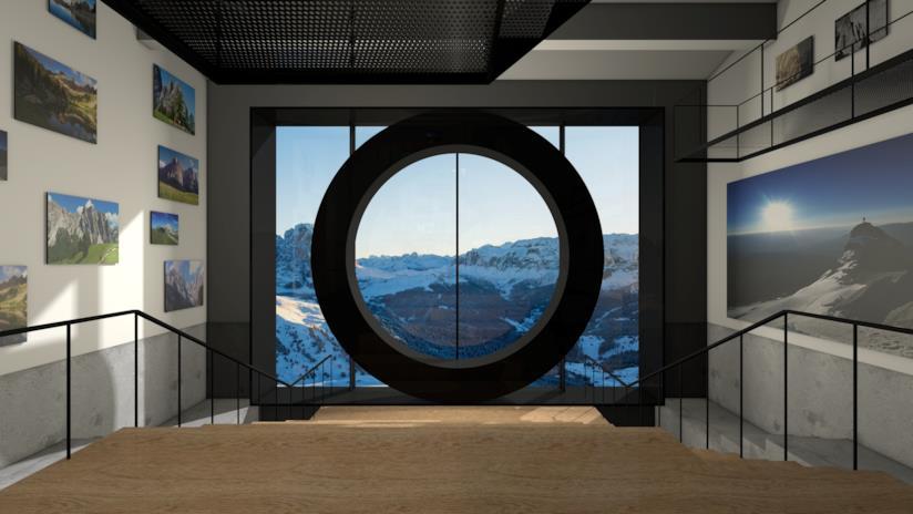 Una stanza espositiva