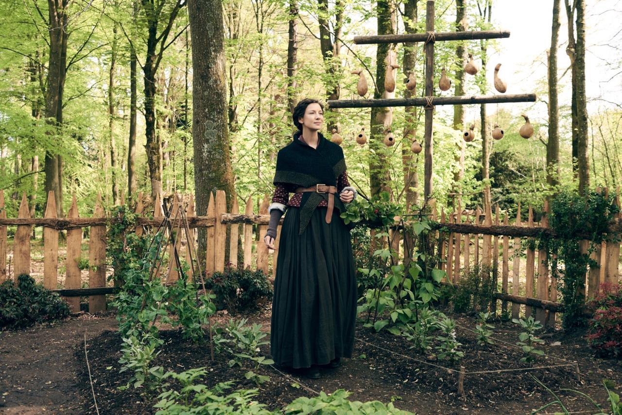 Claire nell'orto