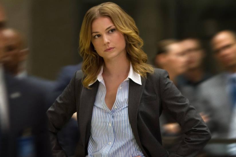 Emily VanCamp in una scena di Captain America: The Winter Soldier