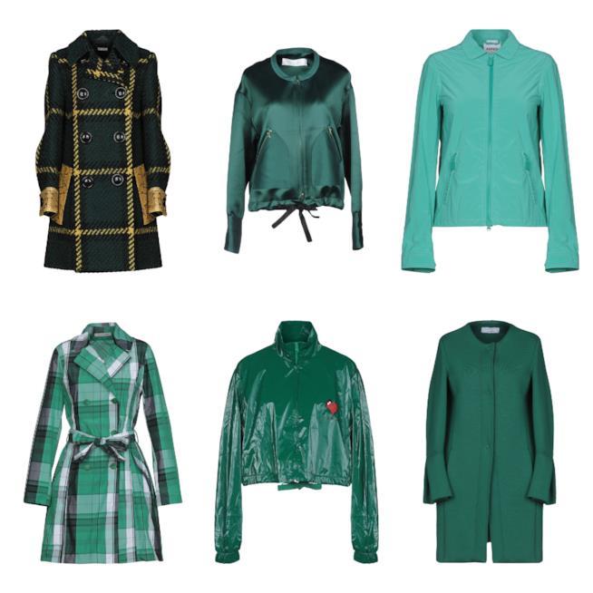 In verde, le giacche e i cappotti di tendenza per l'autunno inverno 2018-19
