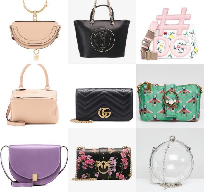 4508f35890 ... Asos, Chanel Un collage di tracolle primavera estate 2018