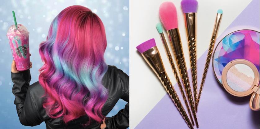 Gli Unicorn Frappuccino Hair di Caitlin Fort e la Make Believe in Yourself Collection di Tarte