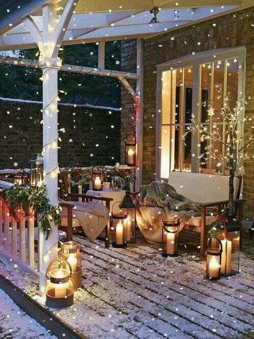 Portico decorato per Natale