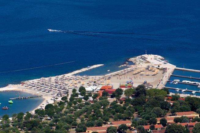 Spiaggia per nudisti a Valalta in Croazia