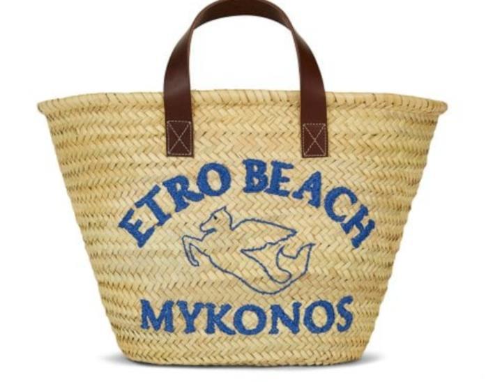 Borsa di paglia Etro Beach