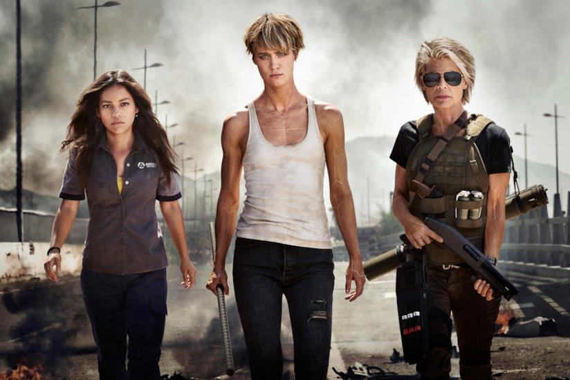 Le protagoniste del nuovo film di Terminator 2019