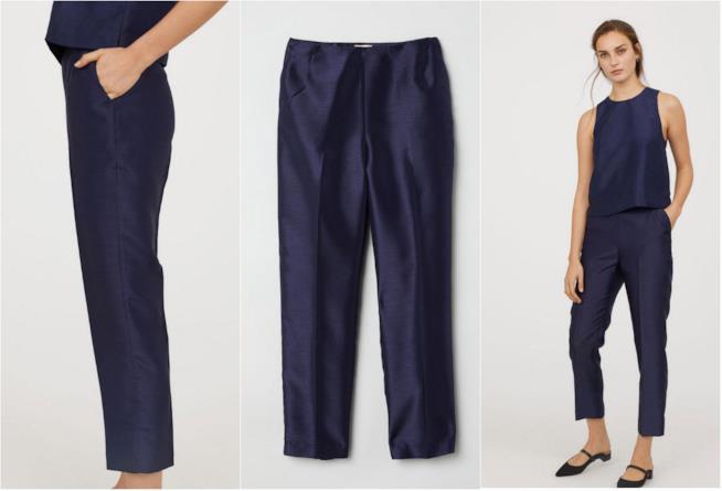 Pantaloni lucidi in tre punti di vista H&M