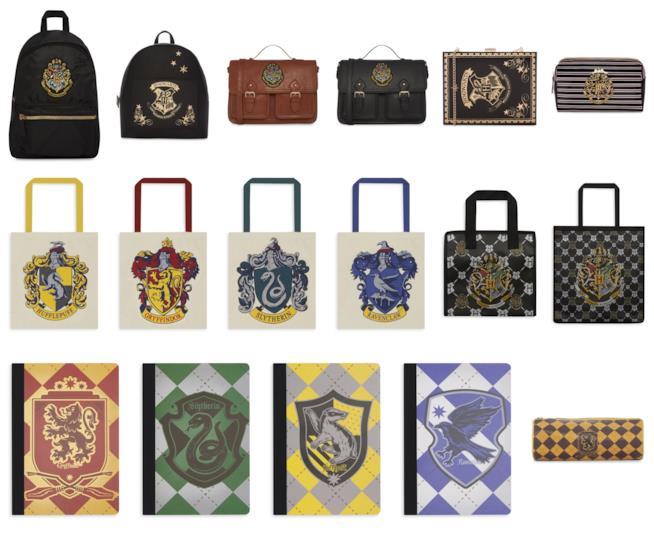 Alcune borse e zaini della collezione Harry Potter di Primark