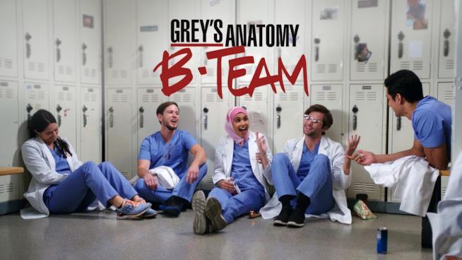 Il poster di Grey's Anatomy: B-Team con i protagonisti