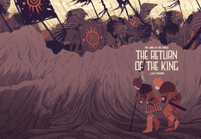Illustrazione di Sara Kipin de Il ritorno del Re