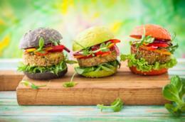 Tre panini multicolori