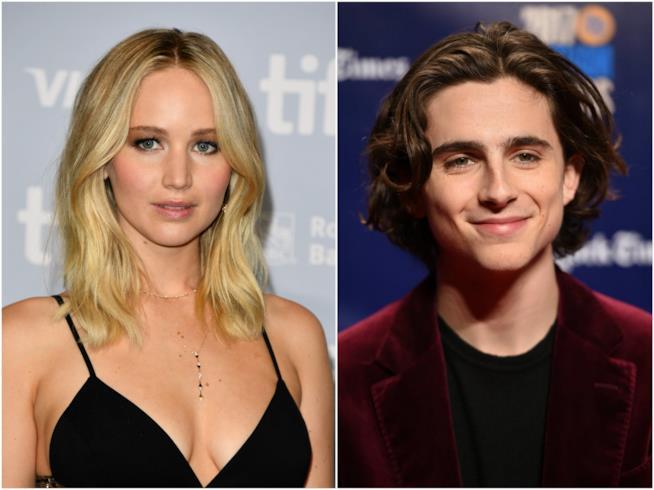 Timothée Chalamet e Jennifer Lawrence: faranno coppia agli Oscar?