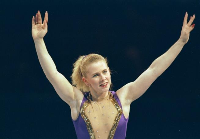 La pattinatrice olimpica Tonya Harding in una foto degli anni '90