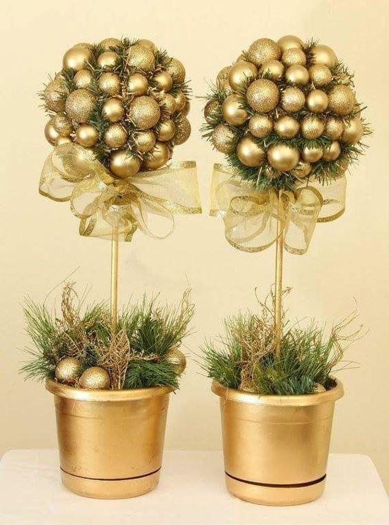Centrotavola natalizi color oro