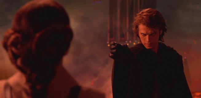 Una scena di Star Wars III