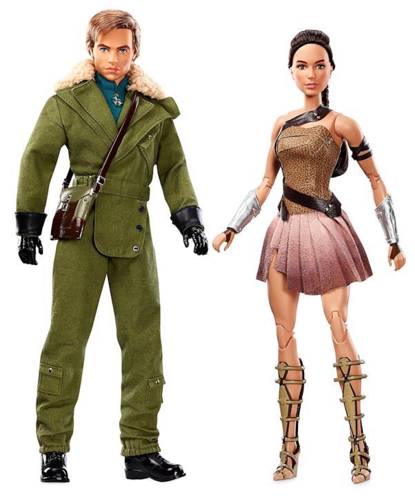 Le barbie di Steve Trevor e Diana Prince di Wonder Woman