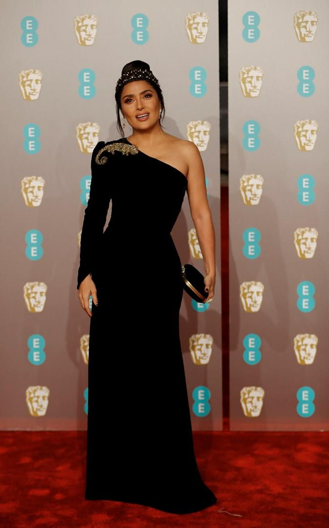 Salma Hayek sul red carpet dei BAFTA