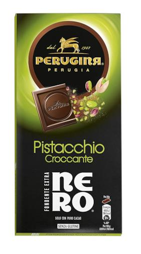 Tavoletta di cioccolato fondente con granella di pistacchio
