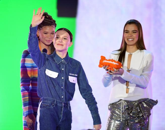 Millie Bobby Brown ai Kids' Choice Awards