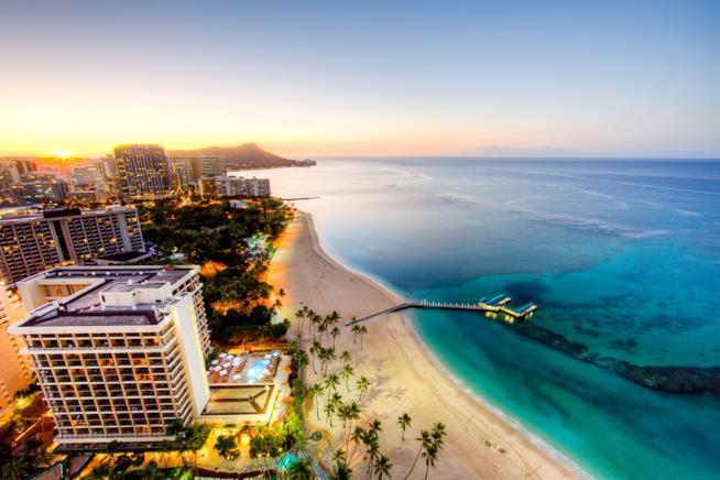 Waikiki Beach, sull'isola di Oahu