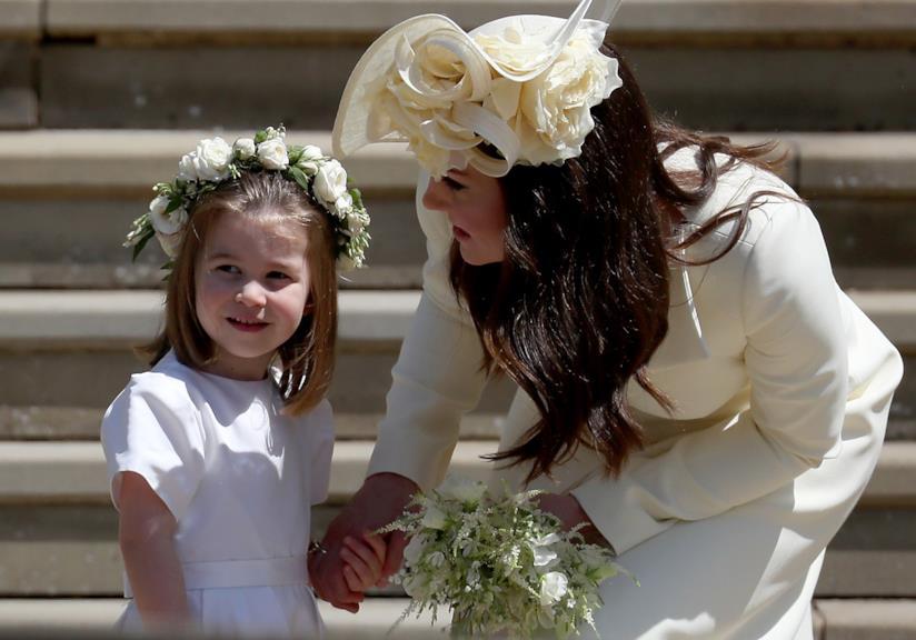 La Principessa Charlotte con mamma Kate Middleton