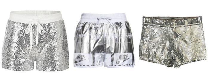 In argento e dal'effetto silver, gli shorts estate 2018